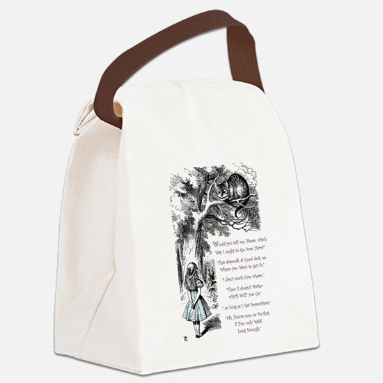 Where Do You Want To Go? Canvas Lunch Bag