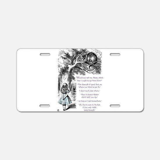 Where Do You Want To Go? Aluminum License Plate