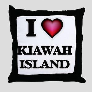 I love Kiawah Island South Carolina Throw Pillow