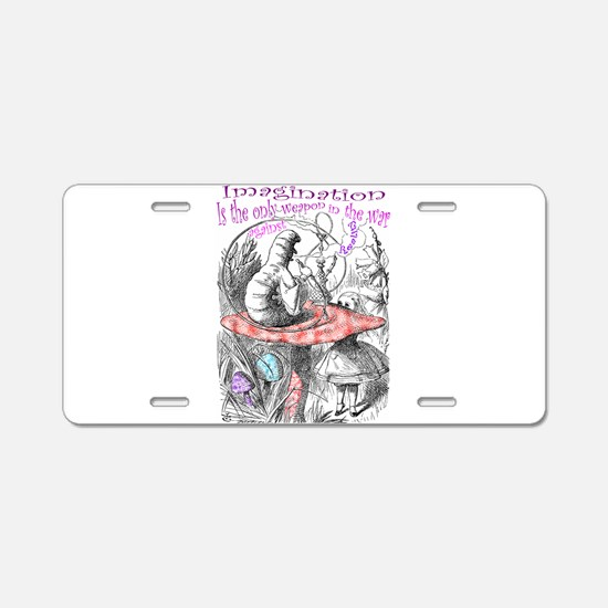 Imagination Reality Aluminum License Plate