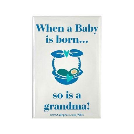 Grandma is Born Rectangle Magnet (10 pack)