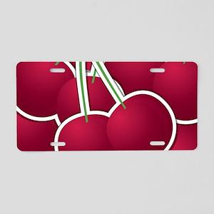 Funky cherry Aluminum License Plate