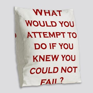 What would you attempt to do i Burlap Throw Pillow
