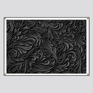 Black Flourish Banner