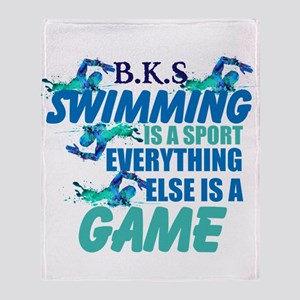 Swimming Is A Sport: Personalize Throw Blanket
