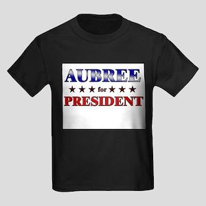 AUBREE for president Kids Dark T-Shirt