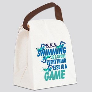 Swimming is a sport: Personalize Canvas Lunch Bag