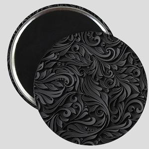 Black Flourish Magnet