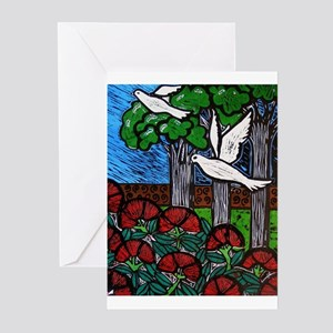 Doves in the Totara Greeting Cards (Pk of 10)