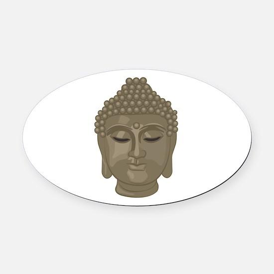 Buddha Head Oval Car Magnet