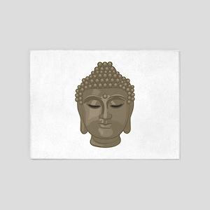 Buddha Head 5'x7'Area Rug