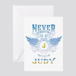 Never underestimate the power of ju Greeting Cards