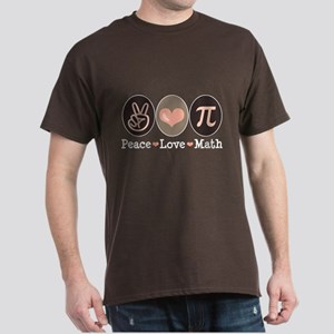 Peace Love Math Pi Dark T-Shirt