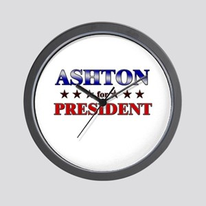 ASHTON for president Wall Clock