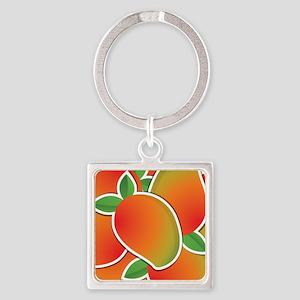 Funky mango Square Keychain