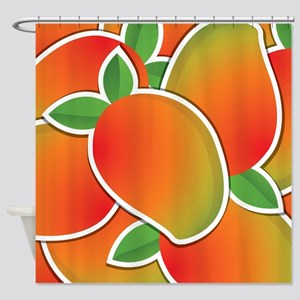 Funky mango Shower Curtain