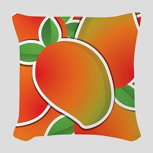 Funky mango Woven Throw Pillow