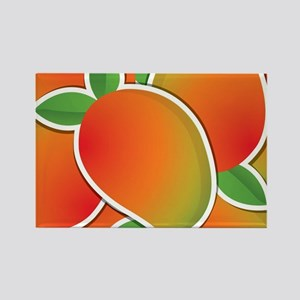Funky mango Rectangle Magnet