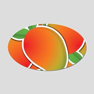 Funky mango 20x12 Oval Wall Decal