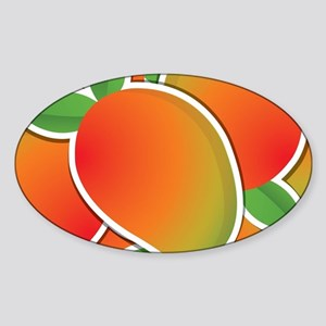 Funky mango Sticker (Oval)