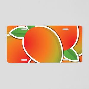 Funky mango Aluminum License Plate