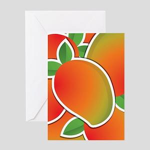 Funky mango Greeting Card