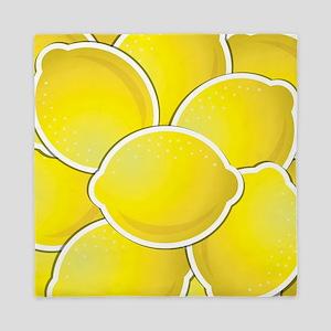 Funky lemons Queen Duvet