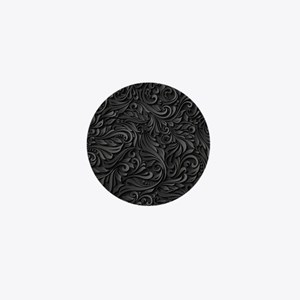 Black Flourish Mini Button