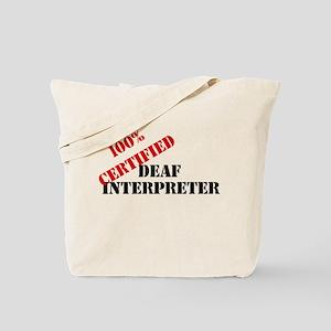 Deaf Interpreter Tote Bag