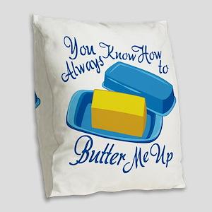 Butter Me Up Burlap Throw Pillow