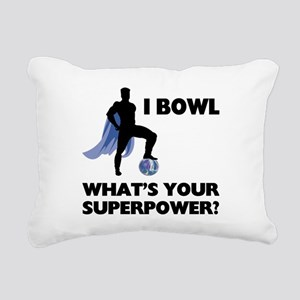 Bowling Superhero Rectangular Canvas Pillow