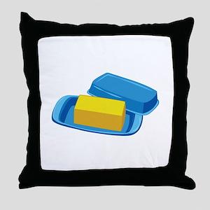 Butter Dish Throw Pillow