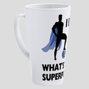 Bowling Superhero 17 oz Latte Mug
