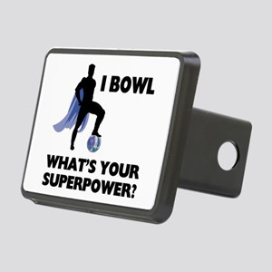 Bowling Superhero Rectangular Hitch Cover