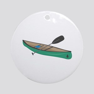 Canoe Round Ornament