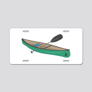 Canoe Aluminum License Plate