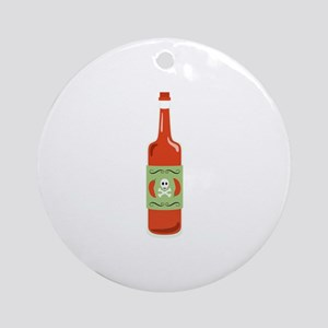 Hot Sauce Bottle Round Ornament