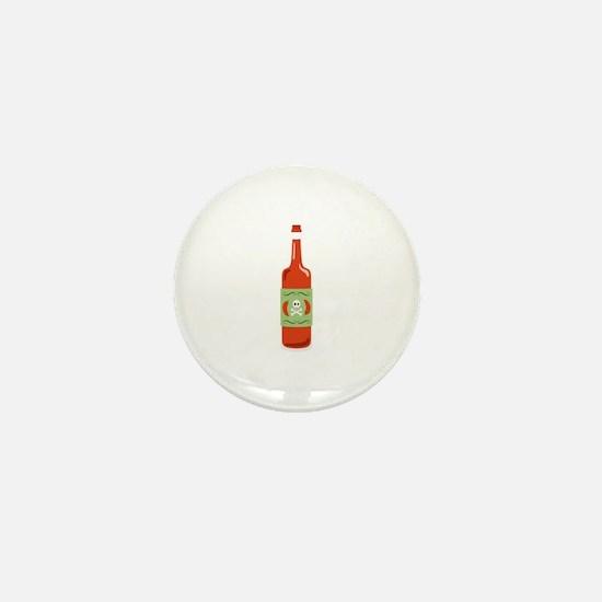Hot Sauce Bottle Mini Button