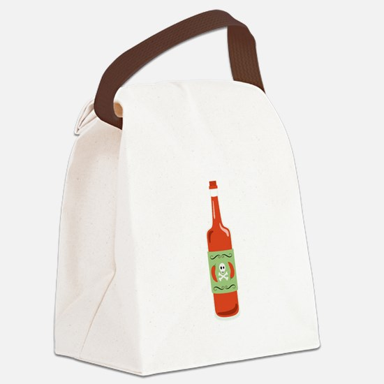 Hot Sauce Bottle Canvas Lunch Bag