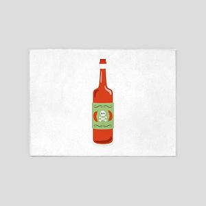 Hot Sauce Bottle 5'x7'Area Rug