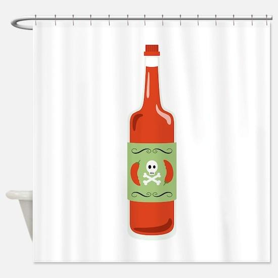 Hot Sauce Bottle Shower Curtain