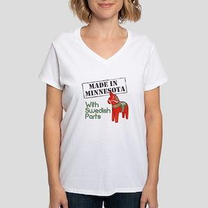 Made in Minnesota! Women's V-Neck T-Shirt