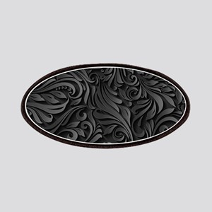 Black Flourish Patch