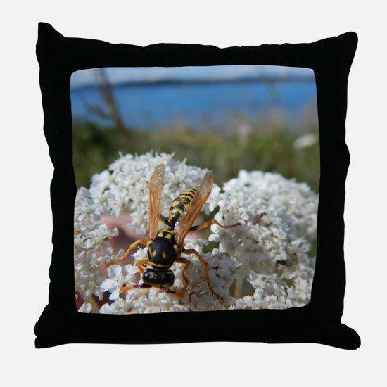 Cool Wasp Throw Pillow