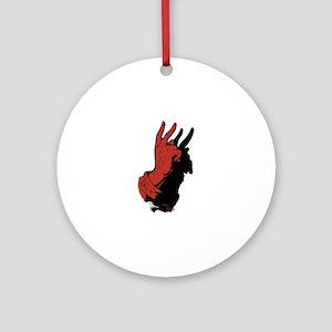 Devil Hand Shadow Round Ornament