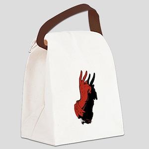 Devil Hand Shadow Canvas Lunch Bag