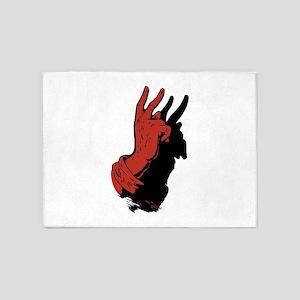 Devil Hand Shadow 5'x7'Area Rug