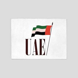 Dubai Flag UAE 5'x7'Area Rug