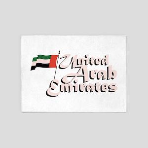 Dubai Flag United Arab Emirates 5'x7'Area Rug