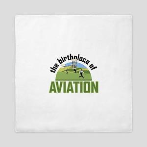 Birthplace of Aviation Queen Duvet